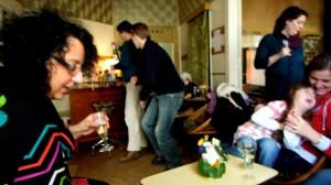 Wohnzimmer party